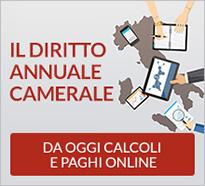 Il Diritto Annuale Camerale - Da oggi calcoli e paghi online