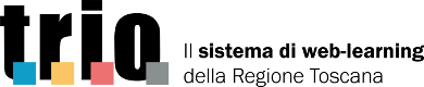 logo di trio sistema di web learning della regione toscana
