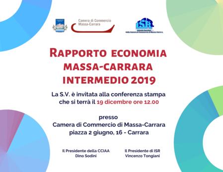 locandina del rapporto economia intermedio 2019